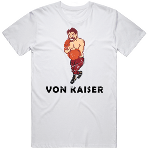 Von Kaiser Stance Punchout Retro Video Game Boxing Distressed T Shirt