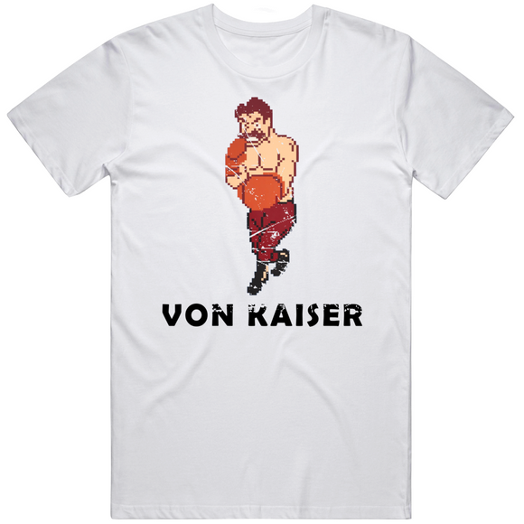 Von Kaiser Stance Mike Tyson's Punchout Retro Video Game Boxing Distressed T Shirt
