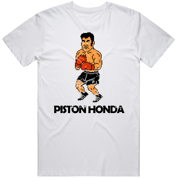 Piston Honda Stance Punchout Retro Video Game Boxing Distressed T Shirt
