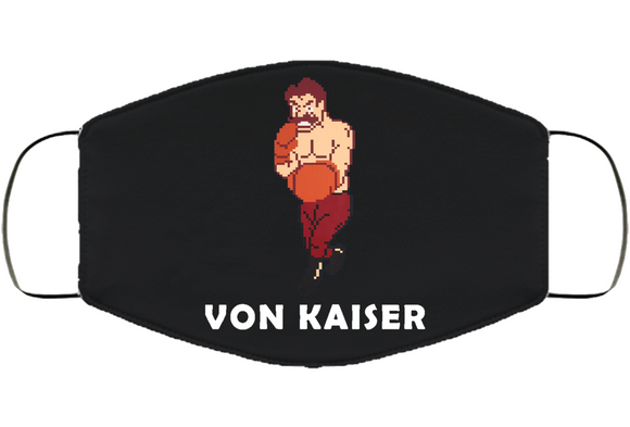 Von Kaiser Stance Mike Tyson's Punchout Retro Video Game Boxing Face Mask Cover