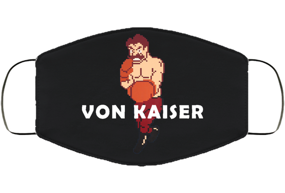 Von Kaiser Stance Mike Tyson's Punchout Retro Video Game Boxing V2  Cover Face Mask Cover
