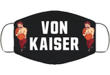 Von Kaiser Stance Punchout Retro Video Game Boxing V4  Cover Face Mask Cover