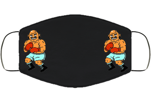 Bald Bull Stance Punchout Retro Video Game Boxing V3 Face Mask Cover