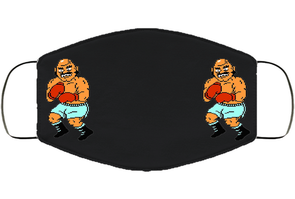 Bald Bull Stance Mike Tyson's Punchout Retro Video Game Boxing V3 Face Mask Cover
