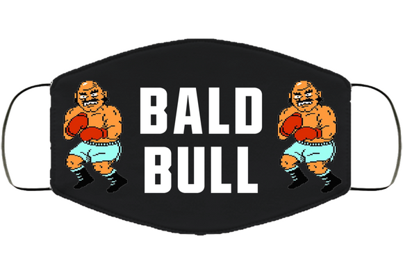 Bald Bull Stance Mike Tyson's Punchout Retro Video Game Boxing V4 Face Mask Cover