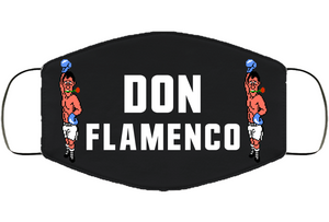 Don Flamenco Stance Punchout Retro Video Game Boxing V2 Face Mask Cover