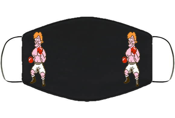 Glass Joe Stance Punchout Retro Video Game Boxing Face Mask Cover