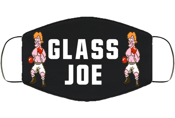 Glass Joe Stance Mike Tyson's Punchout Retro Video Game Boxing V2 Face Mask Cover