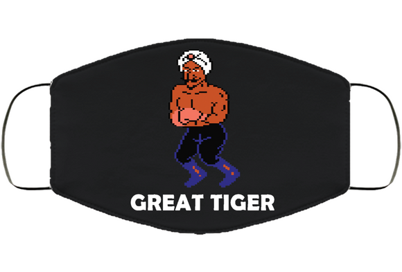 Great Tiger Stance Mike Tyson's Punchout Retro Video Game Boxing Face Mask Cover