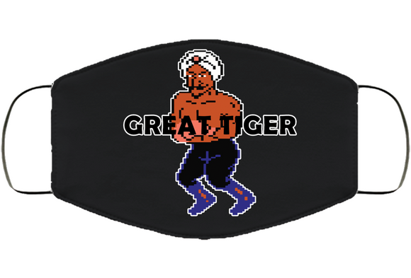 Great Tiger Stance Mike Tyson's Punchout Retro Video Game Boxing V2 Face Mask Cover