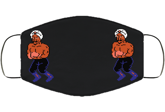 Great Tiger Stance Mike Tyson's Punchout Retro Video Game Boxing V3 Face Mask Cover