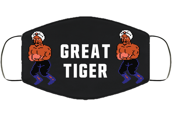Great Tiger Stance Mike Tyson's Punchout Retro Video Game Boxing V4 Face Mask Cover