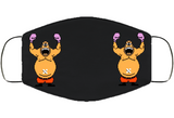 King Hippo Stance Punchout Retro Video Game Boxing Face Mask Cover