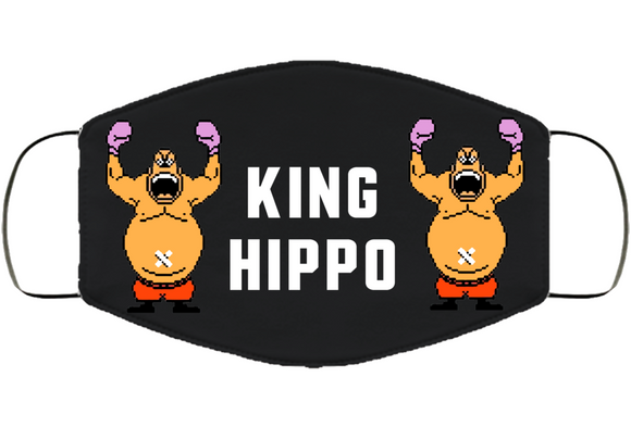 King Hippo Stance Mike Tyson's Punchout Retro Video Game Boxing V2 Face Mask Cover
