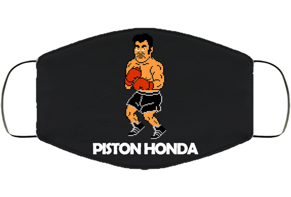 Piston Honda Stance Mike Tyson's Punchout Retro Video Game Boxing Face Mask Cover