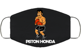 Piston Honda Stance Punchout Retro Video Game Boxing Face Mask Cover