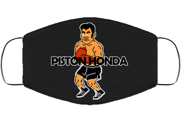 Piston Honda Stance Mike Tyson's Punchout Retro Video Game Boxing V2 Face Mask Cover