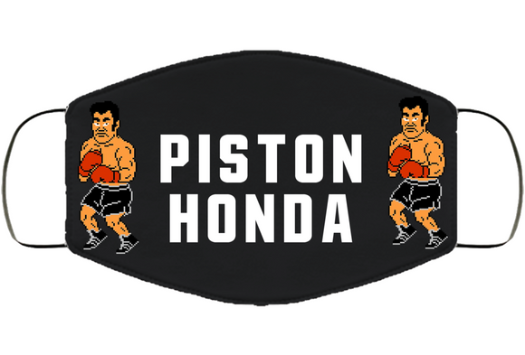 Piston Honda Stance Punchout Retro Video Game Boxing V4 Face Mask Cover