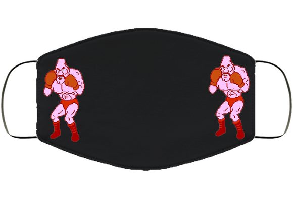 Soda Popinski Stance Mike Tyson's Punchout Retro Video Game Boxing Face Mask Cover