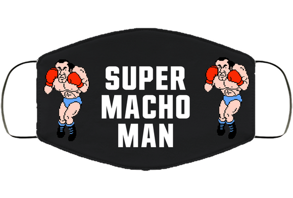 Super Macho Man Stance Mike Tyson's Punchout Retro Video Game Boxing V2 Face Mask Cover