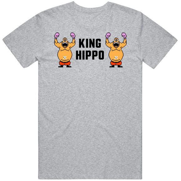 King Hippo Stare Down Mike Tyson's Punchout Retro Video Game Boxing T Shirt
