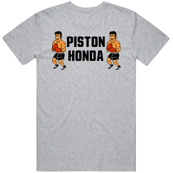 Piston Honda Stare Down Mike Tyson's Punchout Retro Video Game Boxing T Shirt