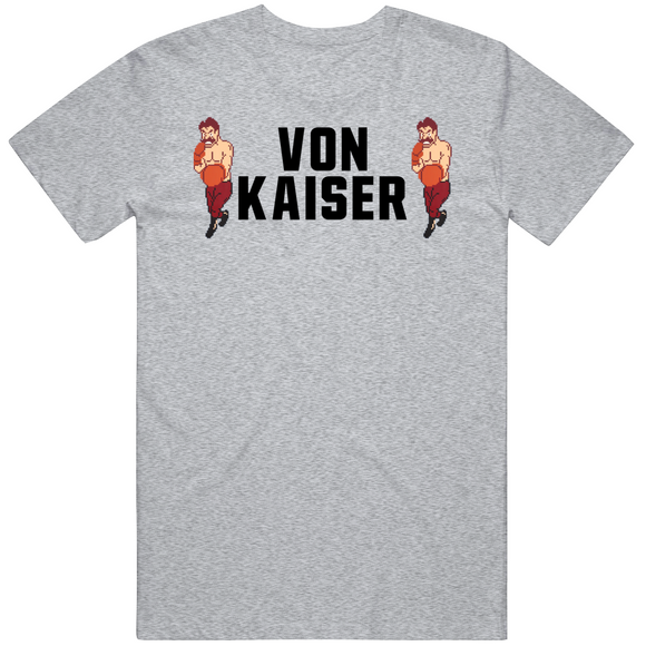 Von Kaiser Stare Down Punchout Retro Video Game Boxing T Shirt