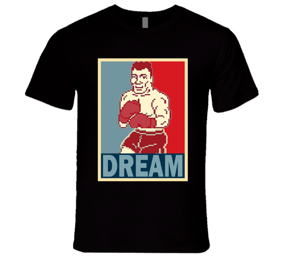 Mr Dream Hope Punch Out Retro Video Game Boxing T Shirt