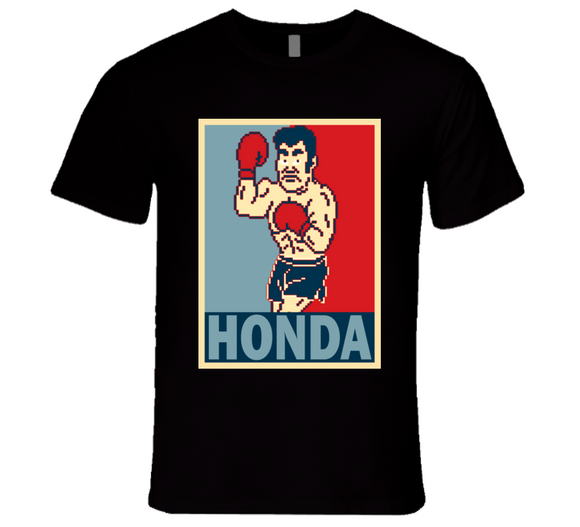 Piston Honda  Hope Punch Out Retro Video Game Boxing T Shirt