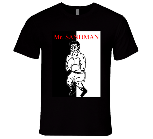 Mr Sandman Punch Out Scarface Style Boxing T Shirt