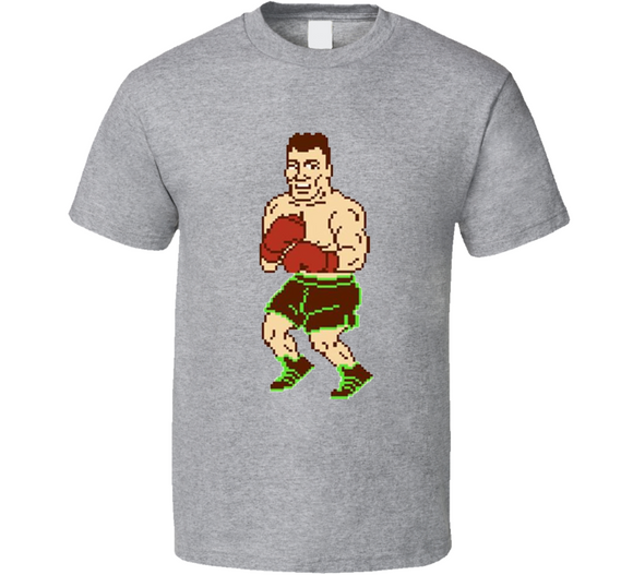 Mr Dream 8 Bit Punch Out Boxing Video Game T Shirt
