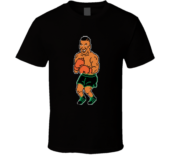 Mike Tyson 8 Bit Mike Tyson's Punch Out Boxing Video Game T Shirt