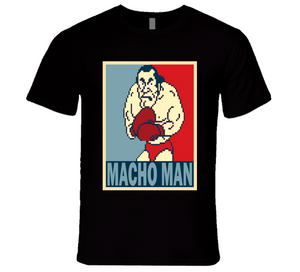 Super Macho Man  Hope Mike Tyson's Punch Out Retro Video Game Boxing T Shirt