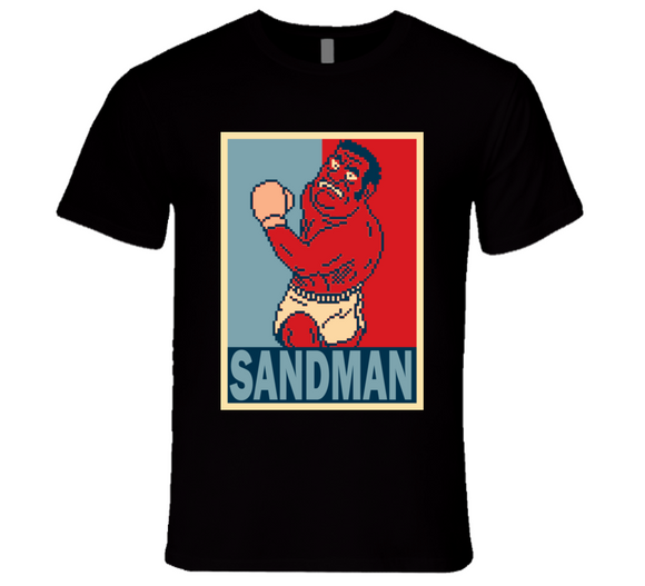 Mr Sandman Hope Punch Out Retro Video Game Boxing T Shirt