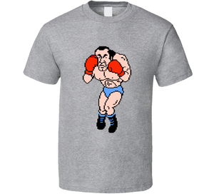 Super Macho 8 Bit Mike Tyson's Punch Out Boxing Video Game T Shirt
