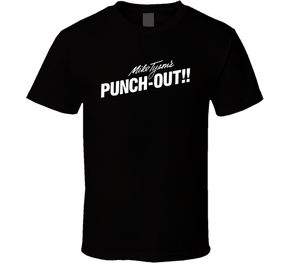 Mike Tyson's Punch Out Box Manuel Art Video Game T Shirt