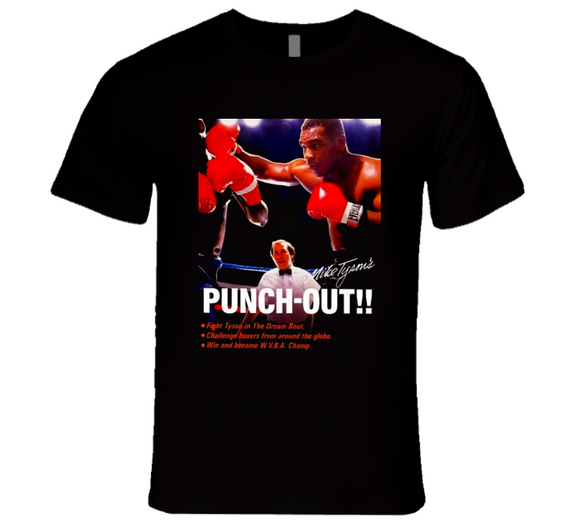 Mike Tyson's Punch Out Box Art Retro Video Game T Shirt