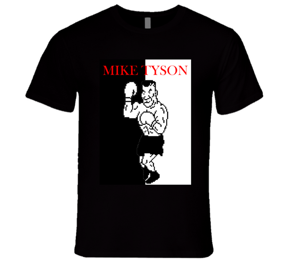 Mike Tyson Punch Out Scarface Style Boxing T Shirt