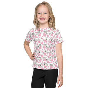 Kitty Hearts - Valentine's Day - Kids T-Shirt