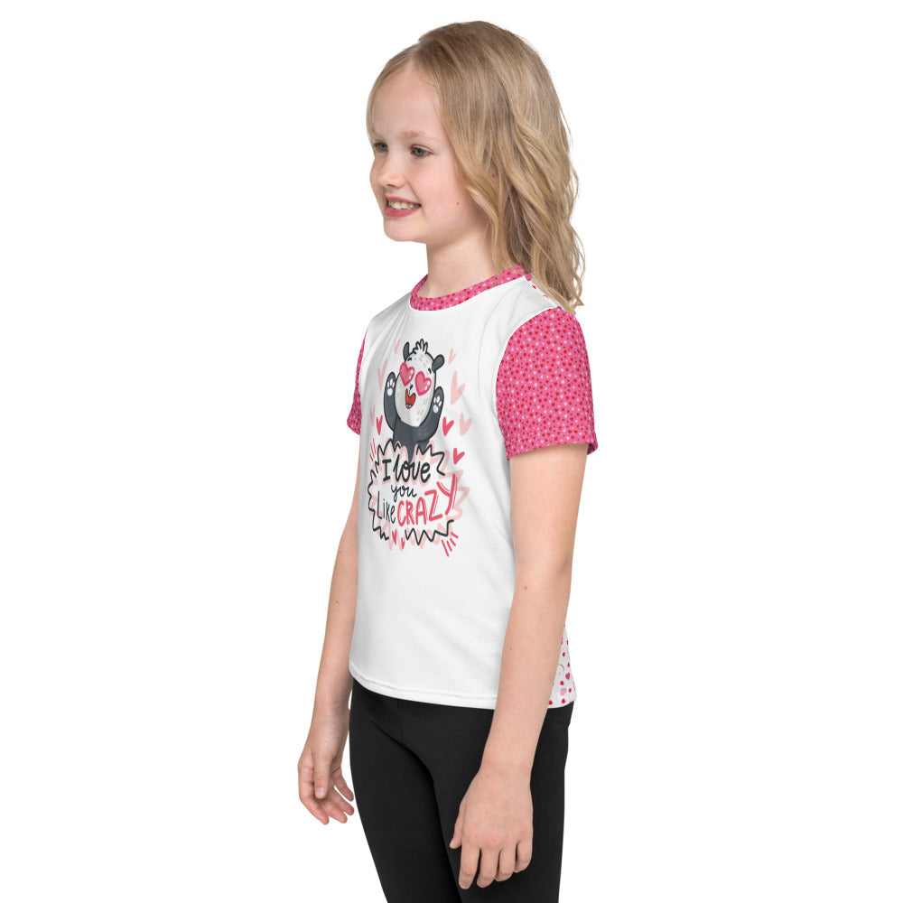 """I Love You Like Crazy"" - Valentine's Day - Kids T-Shirt"