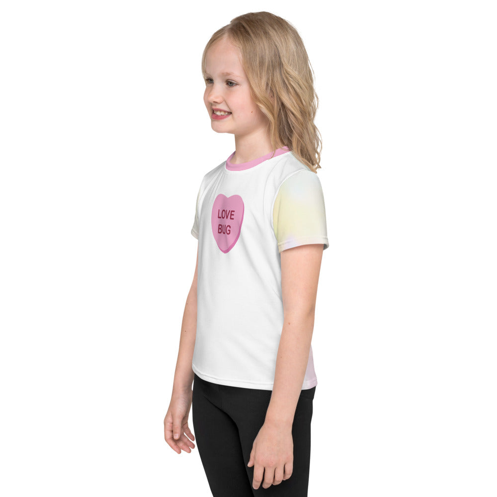 Love Bug Candy Heart - Valentine's Day - Kids T-Shirt