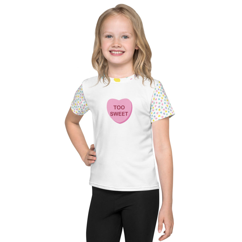 """Too Sweet"" Candy Heart - Valentine's Day - Kids T-Shirt"