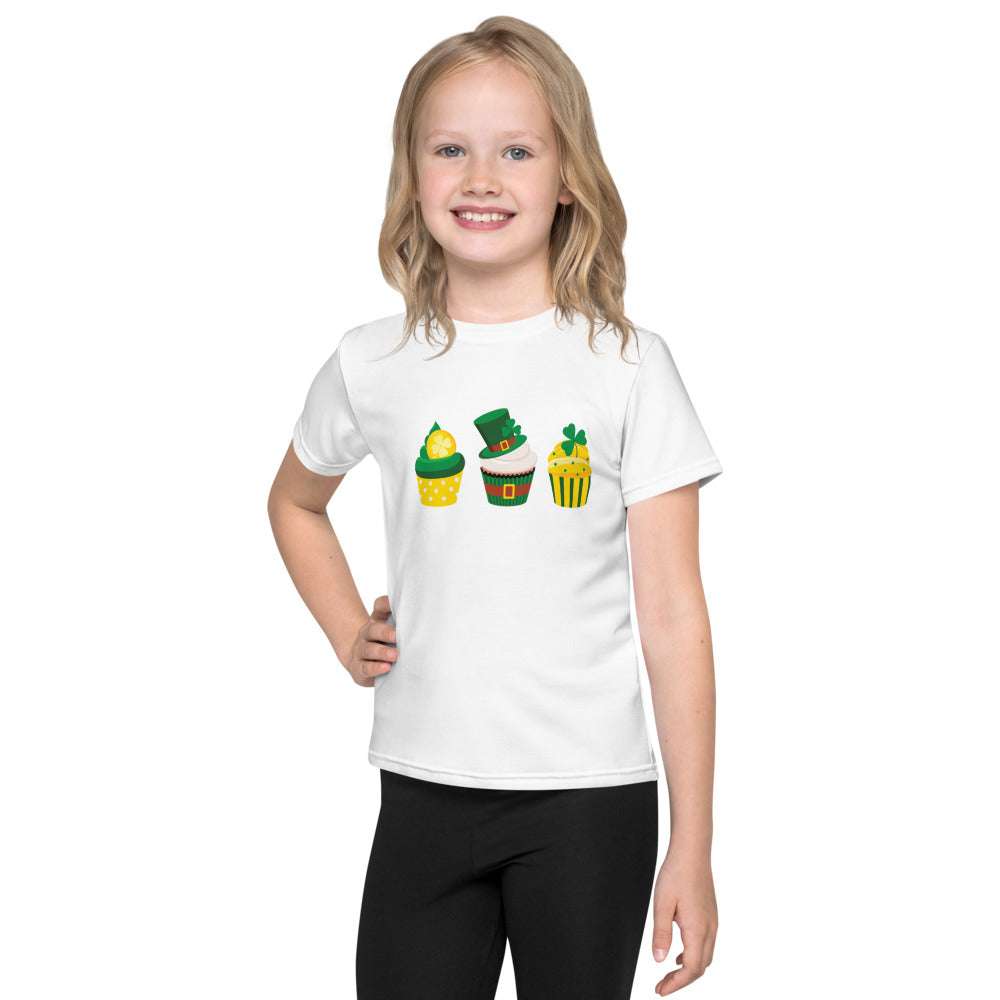 St. Patrick's Day Cupcakes - Kids crew neck t-shirt