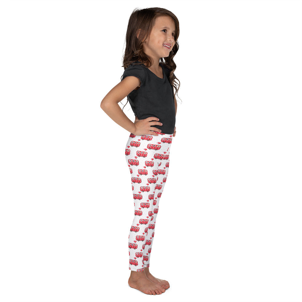 Kitty Love Bus - Valentine's Day - Kid's Leggings