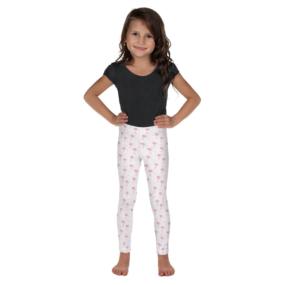 Pink Paper Balloons - Valentine's Day - Kid's Leggings