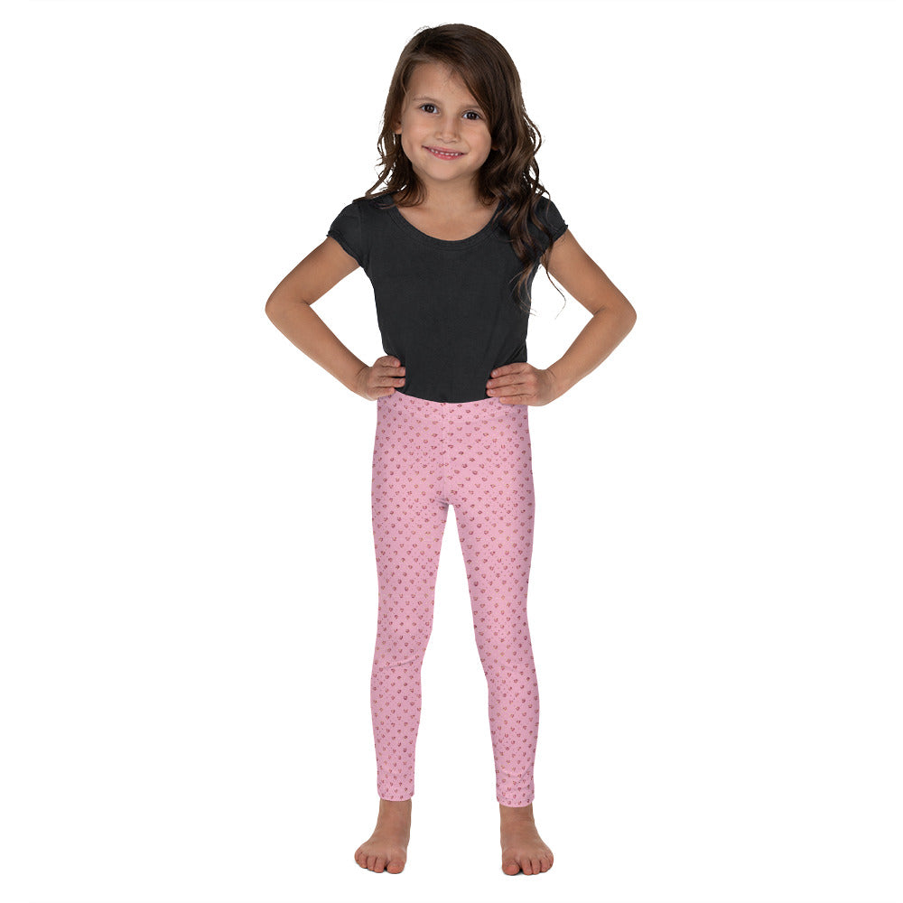 Red Jeweled Hearts on Pink - Valentine's Day - Kid's Leggings