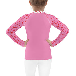 Dancing Unicorn - Valentine's Day - Kids Rash Guard
