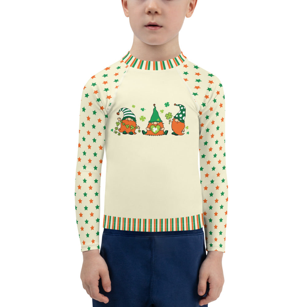 Three Leprechauns - Kids Rash Guard