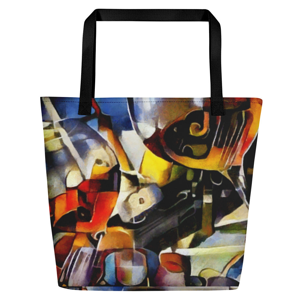 Abstract Wine and Roses - Beach Bag