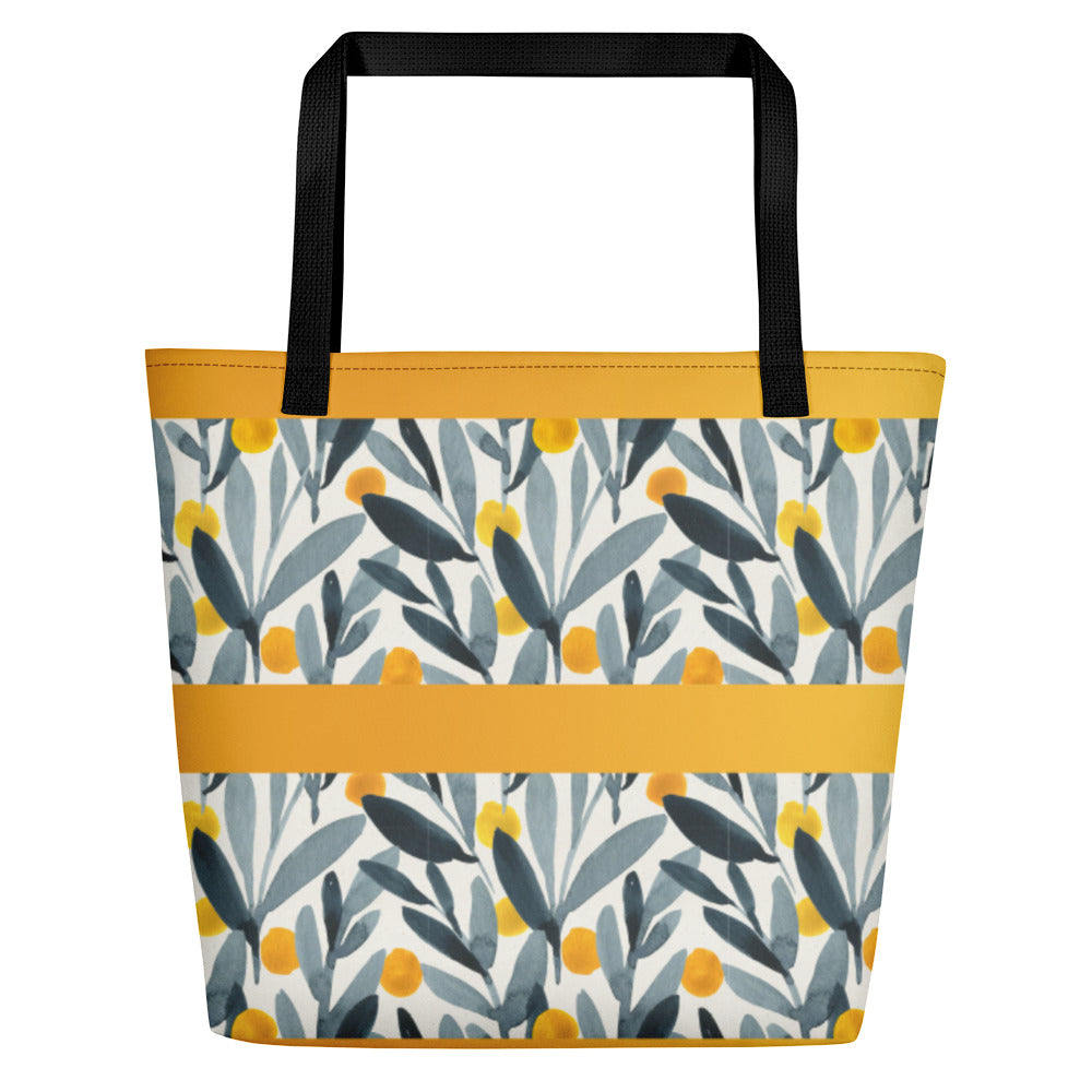 Yellows and Grays - Beach Bag